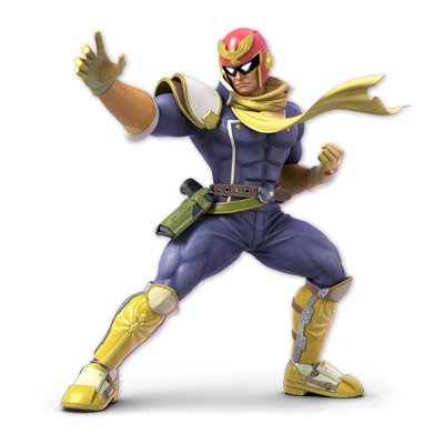 Captain Falcon as appearing in Super Smash Bros. Ultimate.