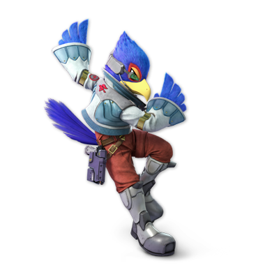 Falco as appearing in Super Smash Bros. Ultimate.