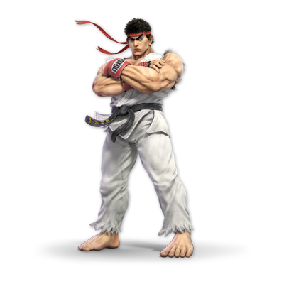 Ryu as appearing in Super Smash Bros. Ultimate.