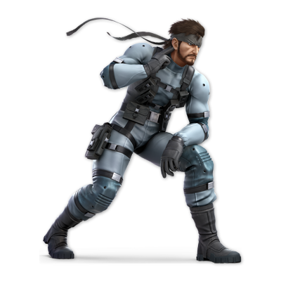 Snake as appearing in Super Smash Bros. Ultimate.