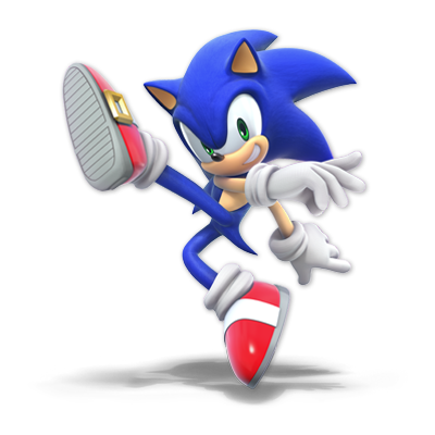 Sonic as appearing in Super Smash Bros. Ultimate.