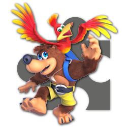 Banjo and Kazooie as appearing in Super Smash Bros. Ultimate.