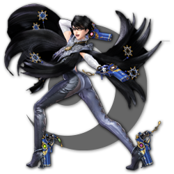 Bayonetta as appearing in Super Smash Bros. Ultimate.