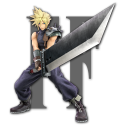 Cloud as appearing in Super Smash Bros. Ultimate.