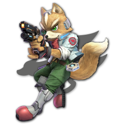 Fox as appearing in Super Smash Bros. Ultimate.