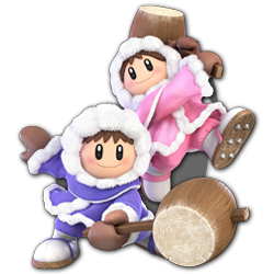 Ice Climbers as appearing in Super Smash Bros. Ultimate.