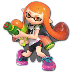 Inkling as appearing in Super Smash Bros. Ultimate.