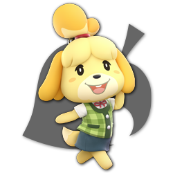 Isabelle as appearing in Super Smash Bros. Ultimate.