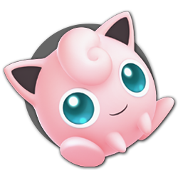 Jigglypuff as appearing in Super Smash Bros. Ultimate.