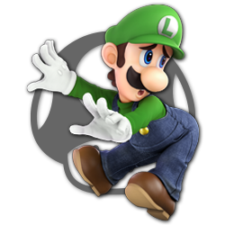 Luigi as appearing in Super Smash Bros. Ultimate.