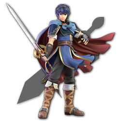 Marth as appearing in Super Smash Bros. Ultimate.