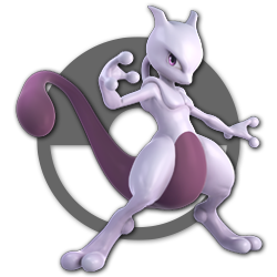 Mewtwo as appearing in Super Smash Bros. Ultimate.