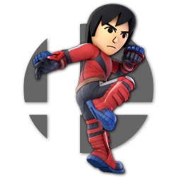 Mii Brawler as appearing in Super Smash Bros. Ultimate.
