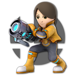 Mii Gunner as appearing in Super Smash Bros. Ultimate.