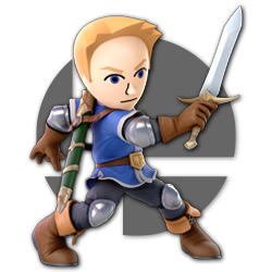 Mii Swordfighter as appearing in Super Smash Bros. Ultimate.