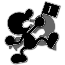Mr. Game and Watch as appearing in Super Smash Bros. Ultimate.