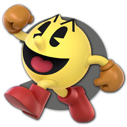 Pac-Man as appearing in Super Smash Bros. Ultimate.