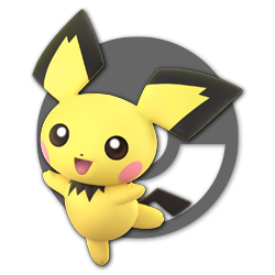 Pichu as appearing in Super Smash Bros. Ultimate.