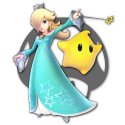Rosalina and Luma as appearing in Super Smash Bros. Ultimate.