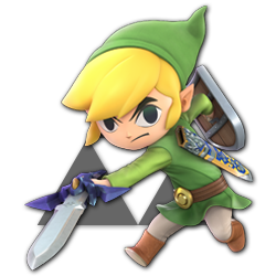 Toon Link as appearing in Super Smash Bros. Ultimate.