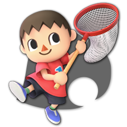 Villager as appearing in Super Smash Bros. Ultimate.