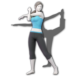 Wii Fit Trainer as appearing in Super Smash Bros. Ultimate.