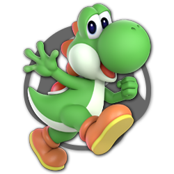 Yoshi as appearing in Super Smash Bros. Ultimate.