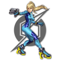 Zero Suit Samus as appearing in Super Smash Bros. Ultimate.