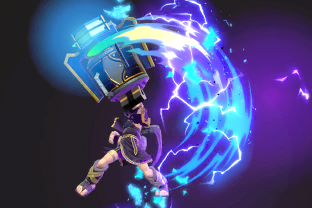 Dark Pit performing the move Electroshock Arm.
