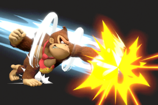 DK performing the move Giant Punch.