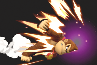DK performing the move Headbutt.