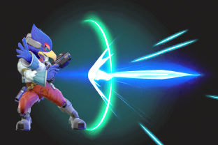 Falco performing the move Blaster.