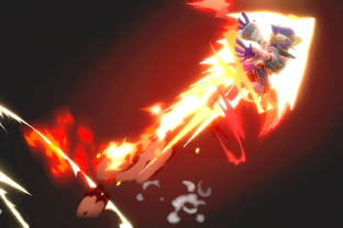 Falco performing the move Fire Bird.
