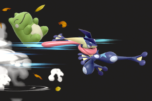 Greninja performing the move Substitute.