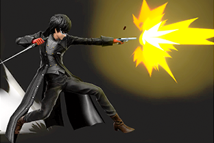 Joker performing the move Gun.