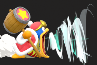 King Dedede performing the move Inhale.