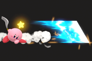 Kirby performing the move Final Cutter.