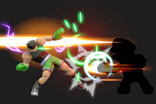 Little Mac performing the move Slip Counter.