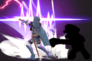 Lucina performing the move Counter.