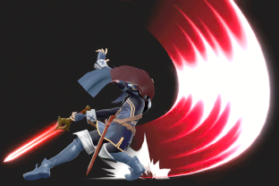 Lucina performing the move Dancing Blade.