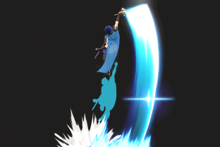 Marth performing the move Dolphin Slash.