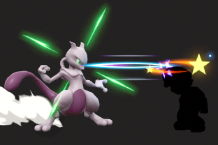 Mewtwo performing the move Disable.