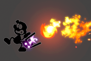 Mr. Game and Watch performing the move Oil Panic.