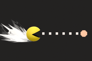 Pac Man performing the move Power Pellet.