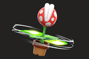Piranha Plant performing the move Piranhacopter.