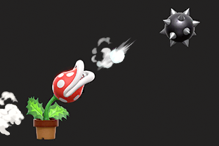 Piranha Plant performing the move Ptooie.