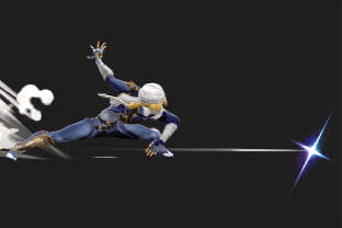 Sheik performing the move Needle Storm.