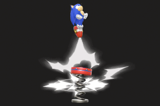 Sonic performing the move Spring Jump.