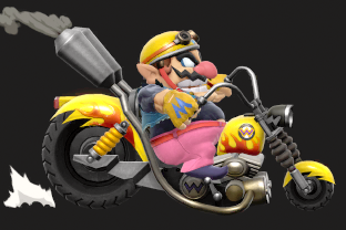 Wario performing the move Wario Bike.